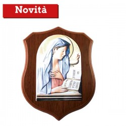 Crest in legno con Virgo Fidelis