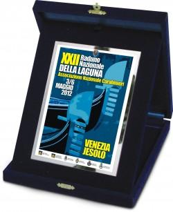 Targa in scatola velluto XXII Raduno Nazionale ANC